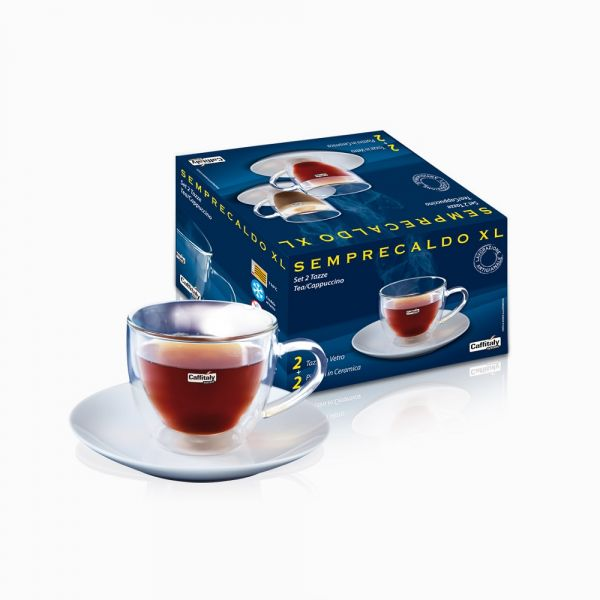SET 2 TAZZE TEA/CAPPUCCIO BY CAFFITALY